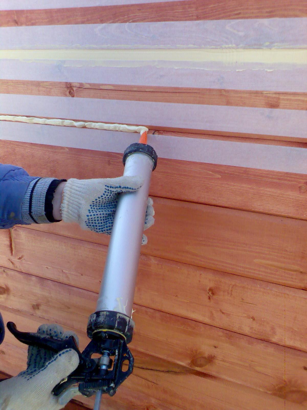 Уплотнитель монтажной пеной для дома своими руками из бруса пена